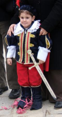 Carnival and Clean Monday: Boy in costume