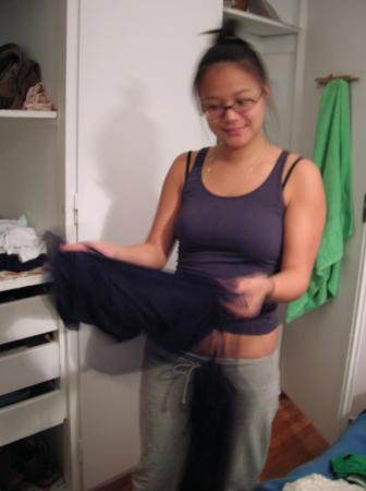 apartment, roommates: Mele with clothing item