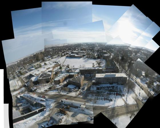Kite Aerial Photography: Above Grinnell in Winter