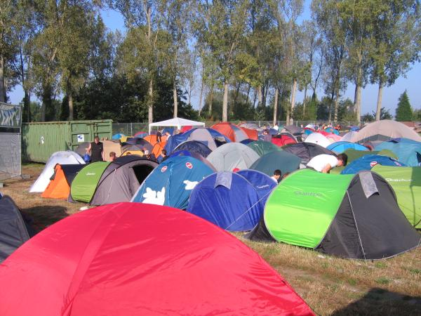 Festival camping at Puur