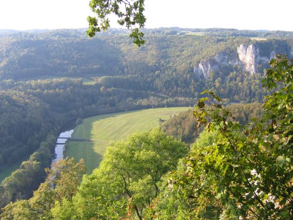 View from Wildenstein Castle