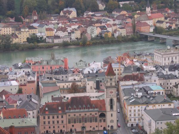 View of Passau from overlook