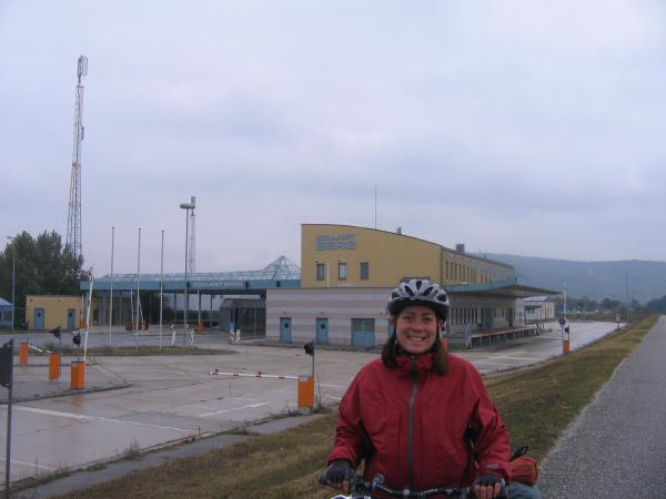 Border checkpoint between Austria and Slovakia