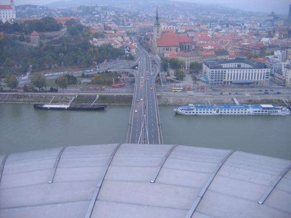 View of Bratislava from UFO