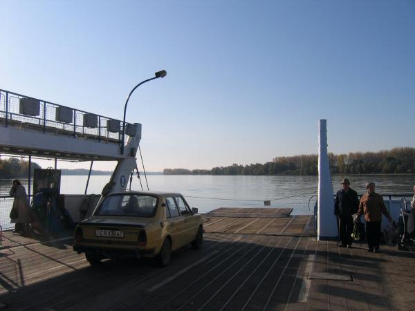 Trabant car on the ferry!