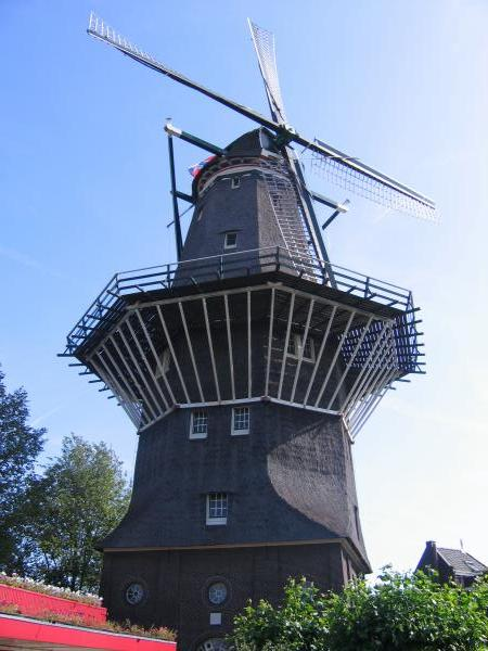 Windmill on the outskirts of Amsterdam