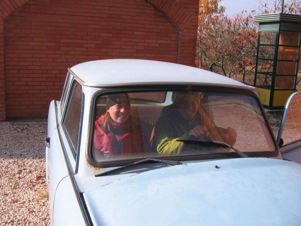 Were driving a Trabant!