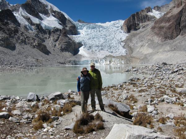 Laguna Glacial at 5,080 meters / 16,666 feet