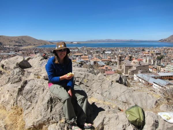 Picnic lunch at the overlook in Puno, Pero
